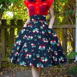 Collectif gnome suspender skirt! Xxs